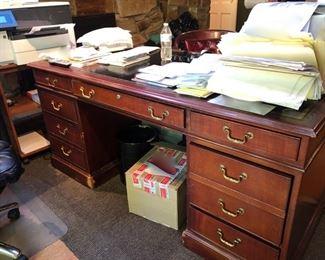Vintage Kittinger leather top desk