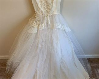 1953 wedding gown handmade by the bride