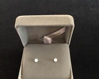 Half ct Diamond Earrings in 14k White Gold