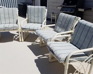 Outdoor furniture with cushions.   Only $50.