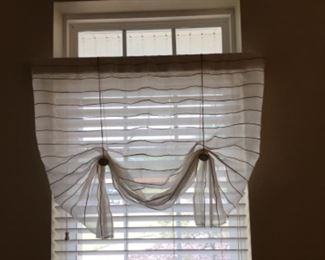 "One of two valances 3'W x 26""T"