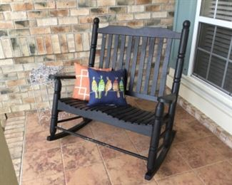 Loveseat rocker wood