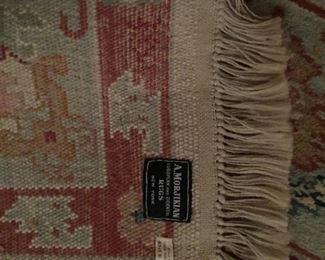 "#16 rug 100% wool A.Morijikian European & Oriental rugs NY. Size  37'8"" x 8 ""1/2"