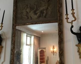 Item #18=French trumeau mirror - 7'T x 41 1/2""