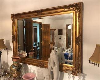 Vintage Ornate gold mirror