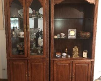 Pair of curio cabinets/display