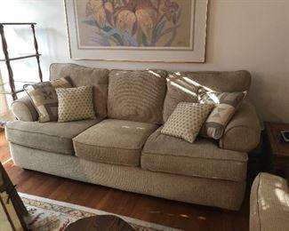 2 sofas, tan