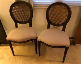 side chairs, cane back