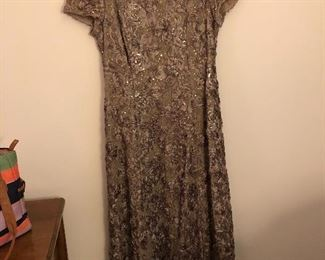 Beaded gown, size 14