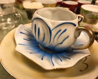 unique tea cup and saucer