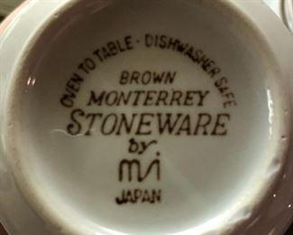Brown Monterrey Stoneware set
