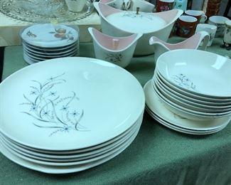 Vintage Taylor Smith Taylor Windemere dinnerware set, 64 pcs