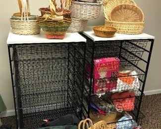 Metal basket storage
