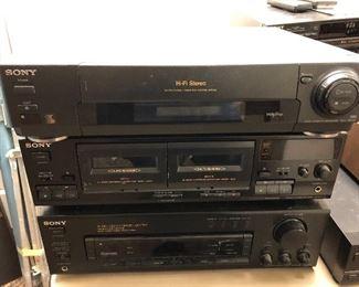 vintage Sony electronics