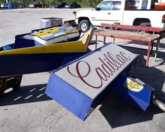 Large Double Sided Sign Pontiac And Cadillac Sign