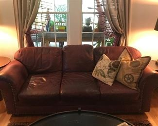VERY comfortable couch that has been slept on by many, often while watching TV.