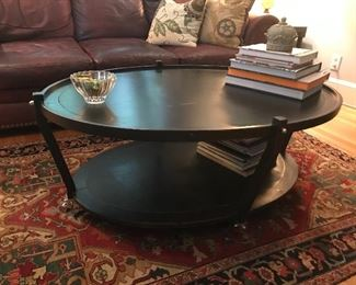 A coffee table with wheels?
