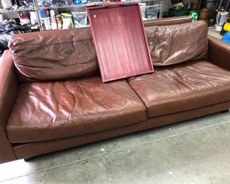 Room & Board Leather Sofa