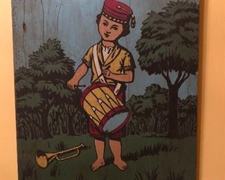 """Painting on Wood, measures 11.5"""" x 15"""""""