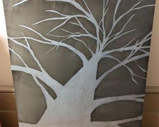 "Beth Weintraub Etchings, titled Oakland Tree 2009.  Measures 14"" x 19"""