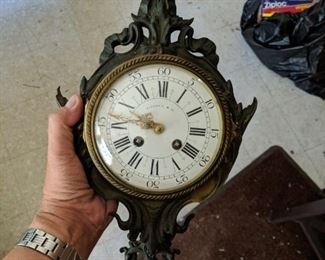 Antique Tiffany and Co. French Clartel Bronze Wall Clock