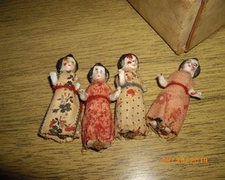 glass miniature dolls