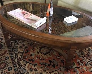 beautiful rug and coffee table
