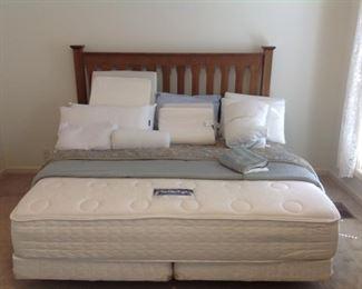 Serta 'Perfect Sleeper' King Mattress Set w/Frame, and a King Head Board