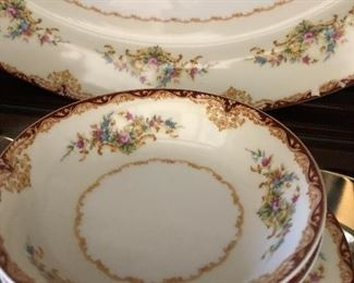 Vintage Hand-painted China set.  Great for  holidays. Many place settings and serving pieces