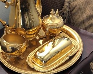 24k plated serving pieces