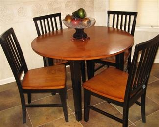 Kitchen Drop Leaf Table with Four Chairs...