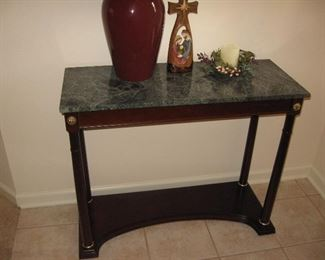 Entry Table with Marble Top (see next picture)...