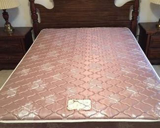 Queen Headboard with Full Size Mattress...