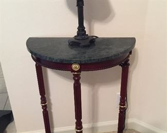 Matching Half Moon Marble Accent Table, Lots of Nice Lamps...
