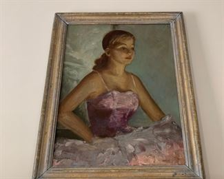 """Oil on canvas, """"Ballerina """"."""
