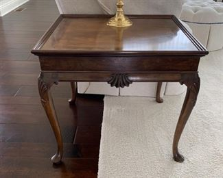 """Pair  """"Baker Furniture"""" end tables."""