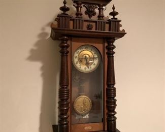 """E. Riss"" German wall clock."