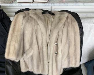 Silver Mink Jacket - Size 10?