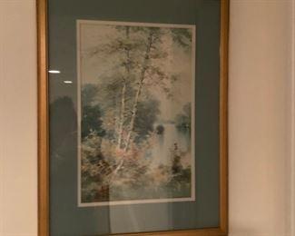 Print, framed under glass.