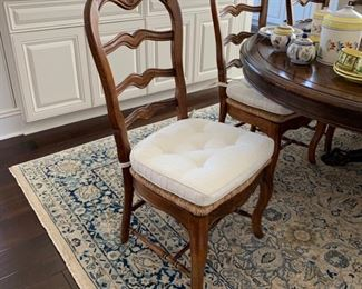 Set of 8 Country French Dining Chairs.