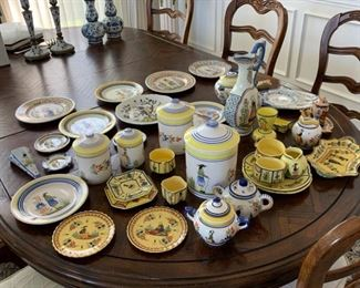 Large collection of Quimper Pottery.