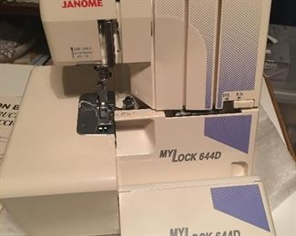 Like new Janome My Lock 644 D embroidery machine