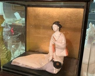 Handmade Oriental Dolls in glass cases, several to choose from