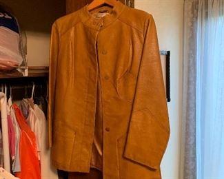 Ladies leather coat!!