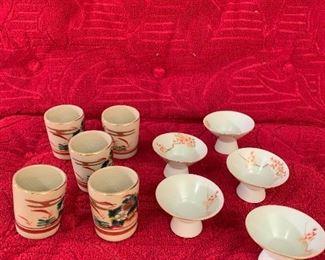 Lots of unique saki sets
