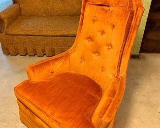 Orange side chair!