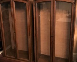 Brandt furniture pair of curio cabinets