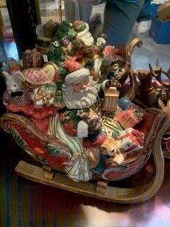 Fritz and Floyd santa and sleigh