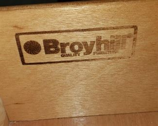 Label from Broyhill Dresser
