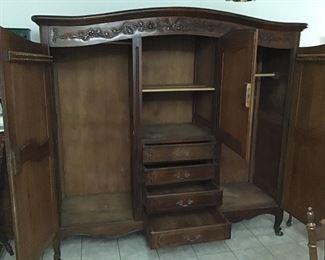Vintage armoire open